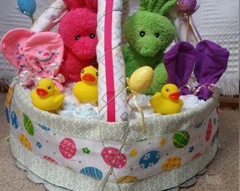 Bunny Duck bathtime basket
