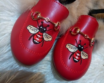 Gucci inspired kids shoe princetown