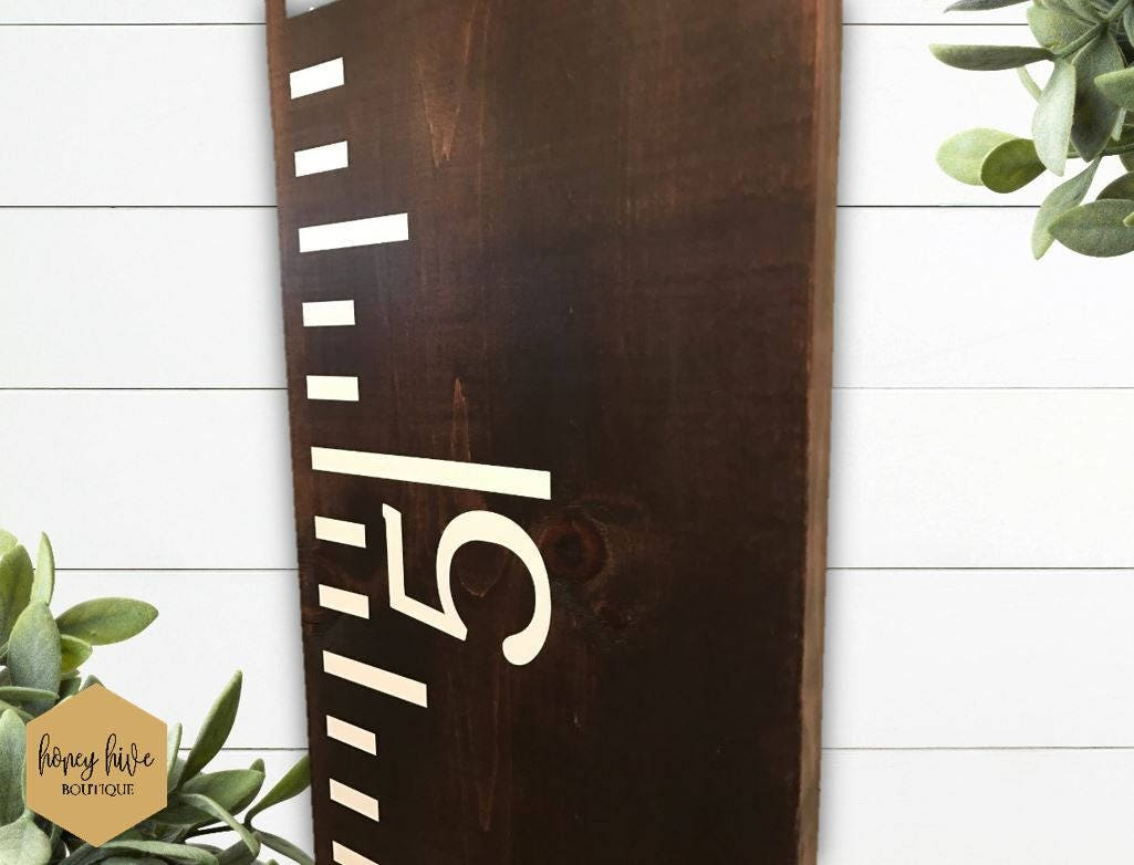 Growth chart wooden sign kids room decor wood height chart description this solid wood growth chart nvjuhfo Images
