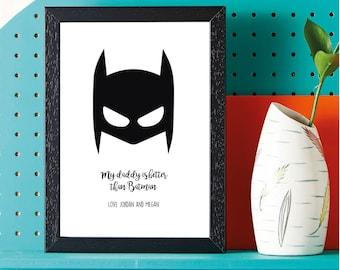 Fathers Day - Super Hero - Batman - Gift