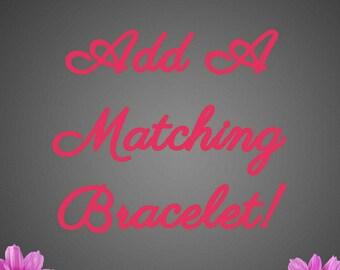 Add a matching BRACELET to your necklace order Bubblegum chunky bracelet