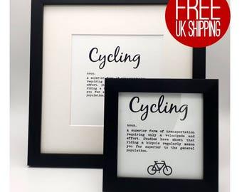 Framed Print - Cycling definition