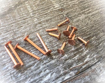 16G Copper Rivet Jewelry Supplies Jewelry Findings