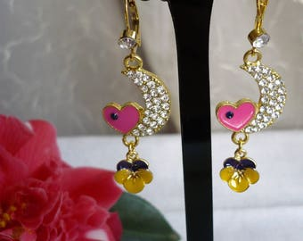 """Earrings """"designed in the heart of the Moon"""""""