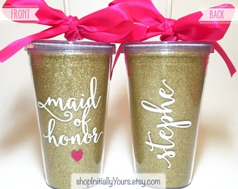 Personalized Maid of Honor Tumbler, Will You Be My Maid of Honor, Maid of Honor Proposal, Maid of Honor Gift, Matron of Honor Gift