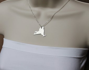 New York State Necklace, ANY City State Necklace, NY Necklace, State Jewelry