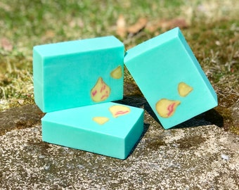 Water Lily and Jasmine Handcrafted Triple Butter Vegan Soap with Kaolin Clay