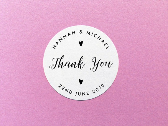 Personalised thank you stickers wedding thank you labels party favor stickers wedding favor label personalized thank you labels from sarahburnsprints on