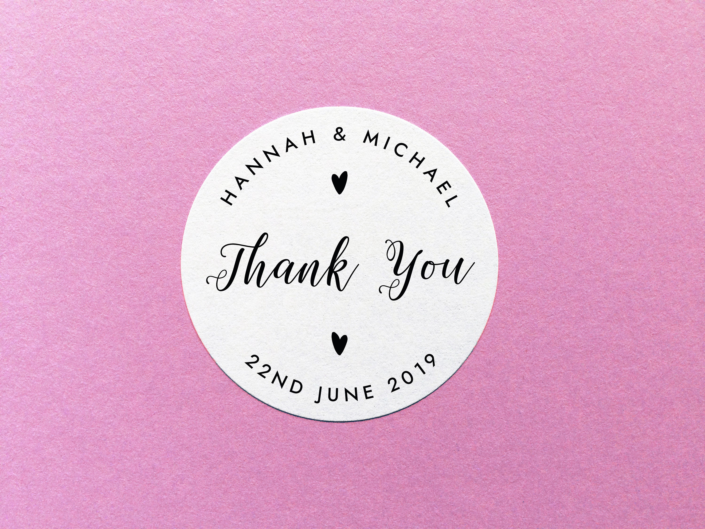 Personalised Thank You Stickers, Wedding Thank You Labels, Party ...