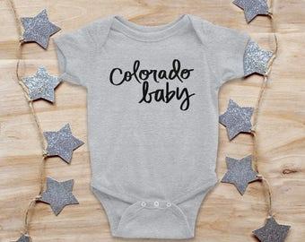 colorado onesie, COLORADO BABY, baby shower gift, new baby gift, trendy baby gift, girl onesie, boy onesie, newborn onesie, colorado gift