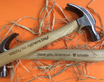 Grandpa Gift | Engraved Hammer | Gifts for Grandpa | First Fathers Day Gift | Personalized Hammer | Daddy and Son | Daddy Daughter | Hammer