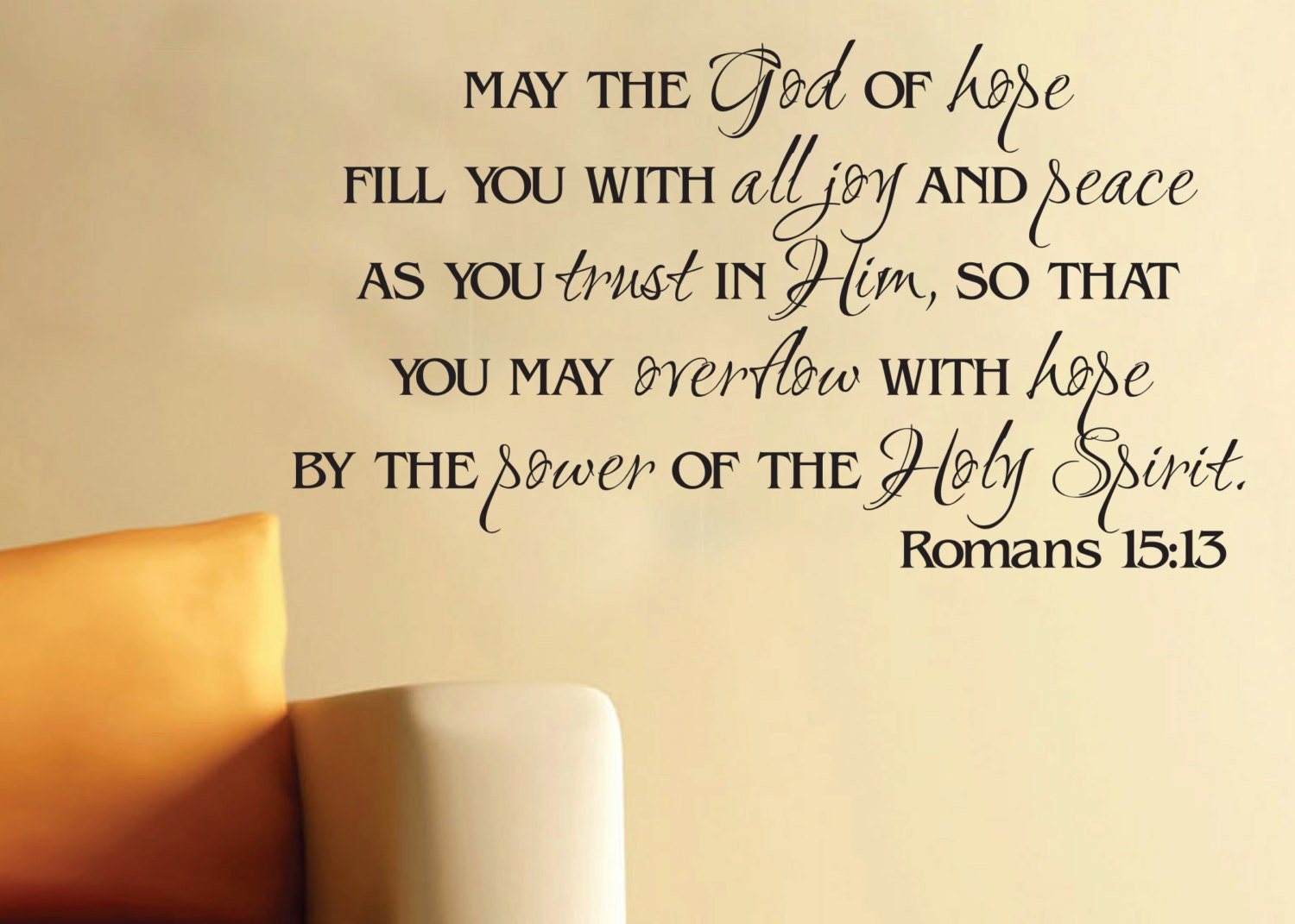 Bible Quotes About Hope Wall Art Vinyl Romans 1513 God Of Hope Scripture Bible Verse