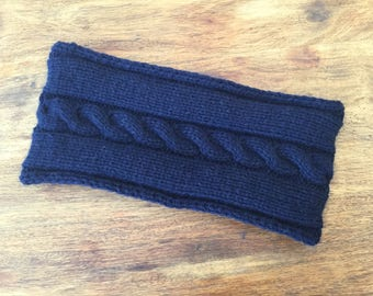 NEW COLOUR Cashmere headband / ear warmer in navy blue by Willow Luxury ( one size)