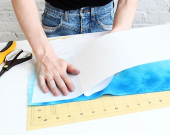 Adhesive Pressure Sensitive Styrene Sheet for Making DIY Lampshades - In a Pre-cut Length