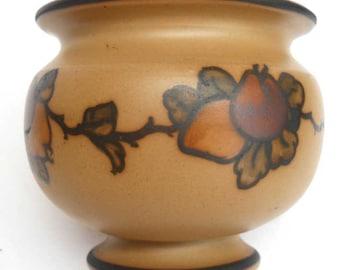 L. Hjorth Bornholm Island Sweden Denmark Art Deco Pottery Round Vase