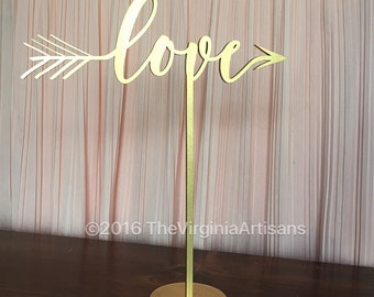 Love Laser Cut Table Sign -  Table Sign.