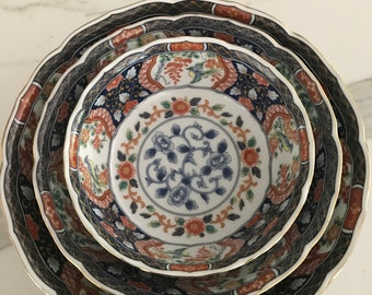 Chinoiserie bowls set of 3