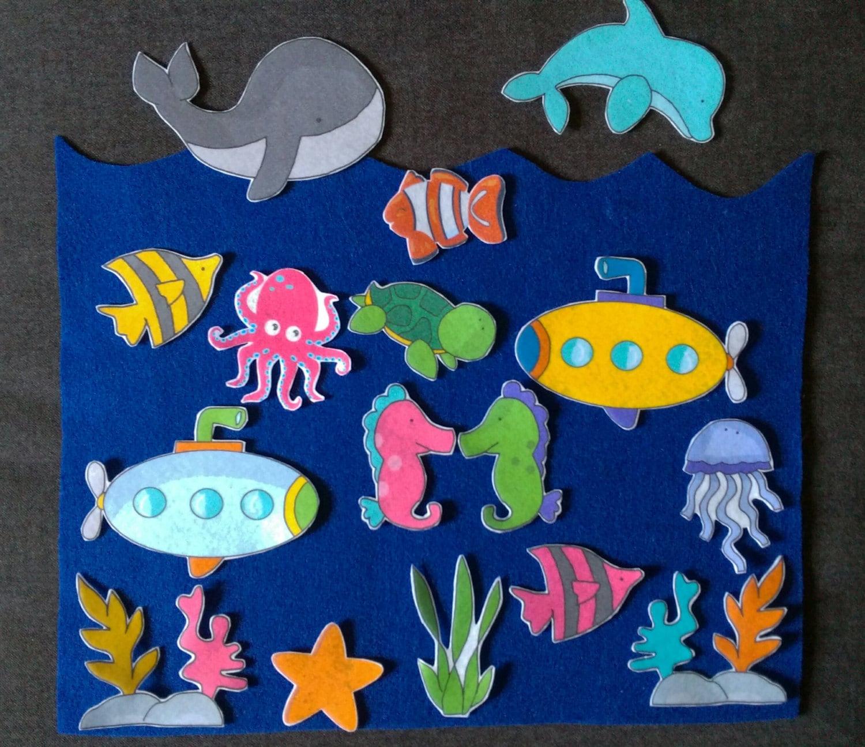 Ocean Felt Board Set Flannel Board Imagination