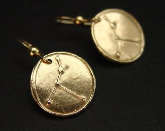 Cancer Zodiac Constellation Earrings