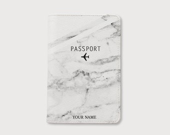 Mother's Day Marble passport holder,personalized passport cover,leather passport holder,birthday gift,personalized gift,gift for her
