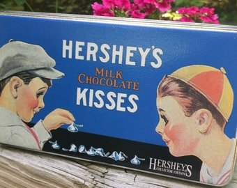 ON SALE Hershey Kisses Gift Tin 1982 Milk Chocolate Kisses Excellent Condition
