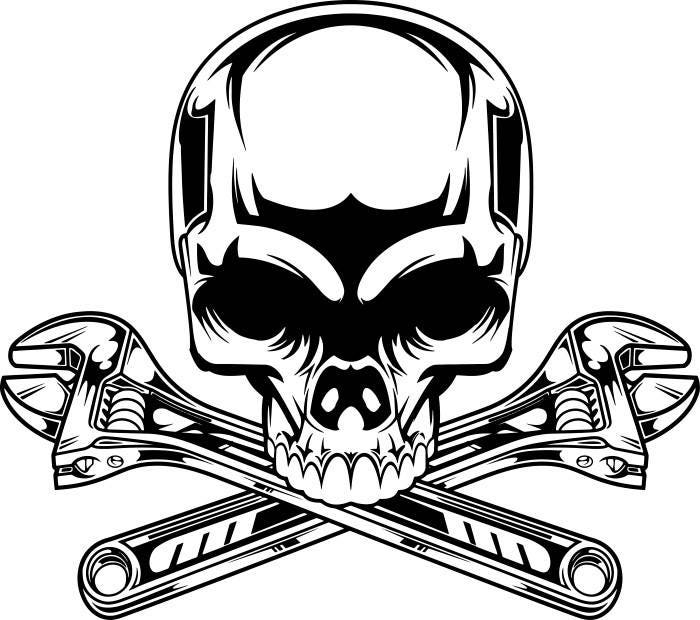Mechanic Logo 2 Skull Wrench Crossed also Atv Wiring Diagrams For Dummies 300 Honda 1992 also Simple Ignition Wiring Diagram together with Strobe Led Stroboscope Circuit Diagram as well 2003 Yamaha Zuma 50cc Wiring Diagram. on diy motorcycle engine car