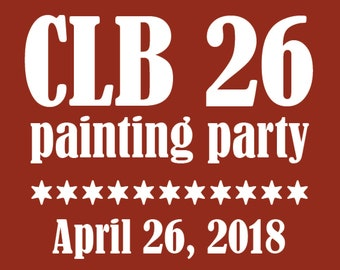 CLB 26 Painting Party