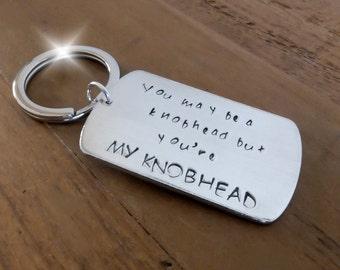 My Knobhead Keyring, My Knobhead Keychain, Insult Keyring, Rude Keyring, Comical Key Ring, Insults with Love, Personalised Keyring Keychain