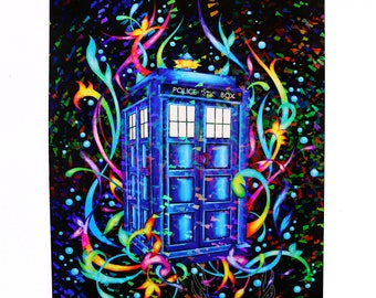Holographic Police Box Print