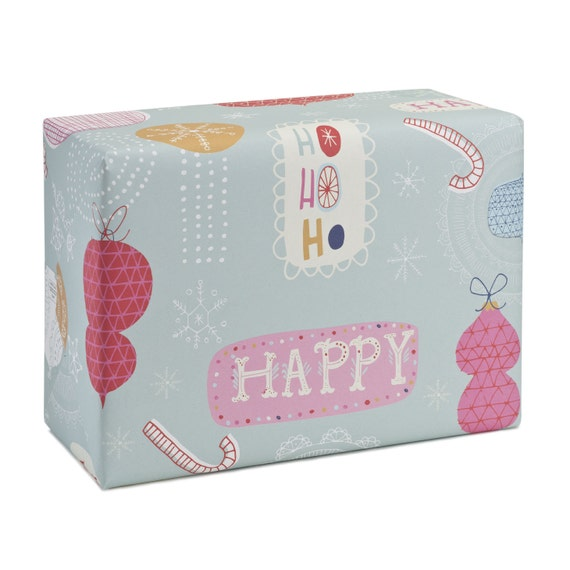 HAPPY CHRISTMAS. Christmas wrapping paper. Happy Christmas. Joyful holiday pattern. Gifts for her, for children, for mom, for grandma