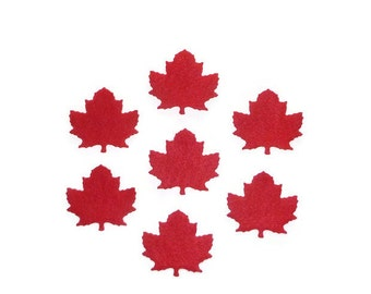Red maple, red maple leaves, Canadian maple leaf, red leaves, Canada, die cut felt leaves, DIY projects, pre cut leaves, maple leaves