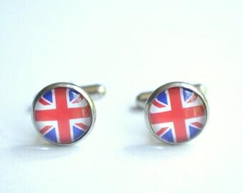 United Kingdom UK Flag Mens Cuff Links Groomsmen Gifts Wedding Gifts