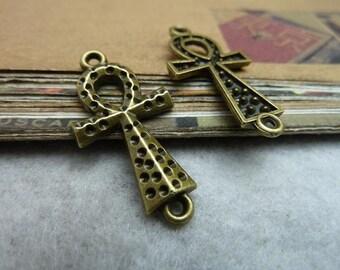 30pcs 16x31mm The CrossAntique Bronze Retro Pendant Charm For Jewelry Bracelet Necklace Charms Pendants C6961