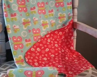 "Matching Clubfoot Bar cover and  ""Mini"" Snuggle blanket"