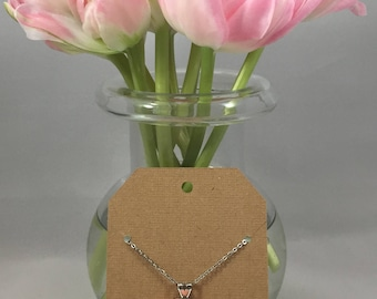 Rose Necklace Peachy Pink