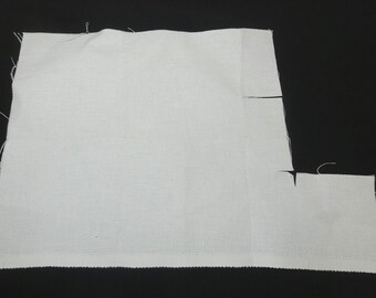 Cross Stitch Aida Cloth Fabric in White, 14 Count, All Cotton, 12 x 12 Inches, Washed, Craft Supply