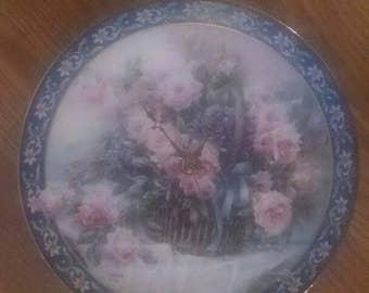 Floral Bouquet Basket Clock Plate !