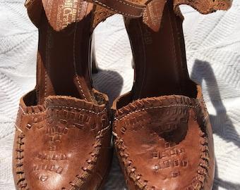Brazilian Leather Platform Shoes