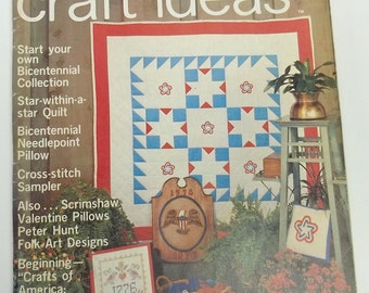 vintage crafting magazine,Decorating/Craft Ideas Made Easy Magazine,February 1976,decorating magazine,crafting magazine
