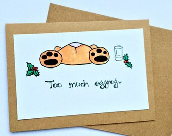 CLEARANCE: Too much eggnog Bunny card