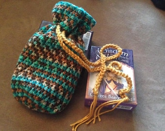 Earthy-colored Tarot Draw-string Bag