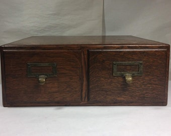 Macey 2-Drawer Antique Card Catalog File
