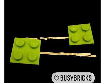 Lego Plate Hair Clips / Bobby Pins