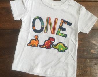 Size 18 Months First Birthday Dinosaur Tee