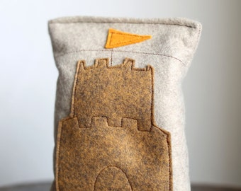 Summer Lavender Sachet with Sand Castle for Home, Work & Car | Road Trip Sachet | Gifts under 30