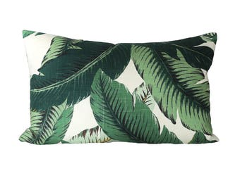 READY TO SHIP - 15x24 Banana Palm Linen pillow cover (sized for 16x26 insert)