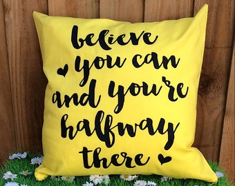 Motivational Quote Cushion Cover