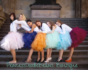 Bella Mode -  Ballet Style Mid-length Tulle Skirt - Sewn Tutu Skirt -  Made to Order - for weddings, formals, bridesmaids, prom, photos