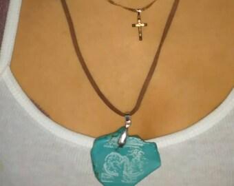 Laser Engraved Sonogram Pendent necklace