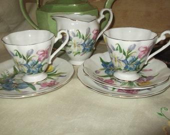 SALE Royal Standard Winsome Iris  part Tea Set 6pce